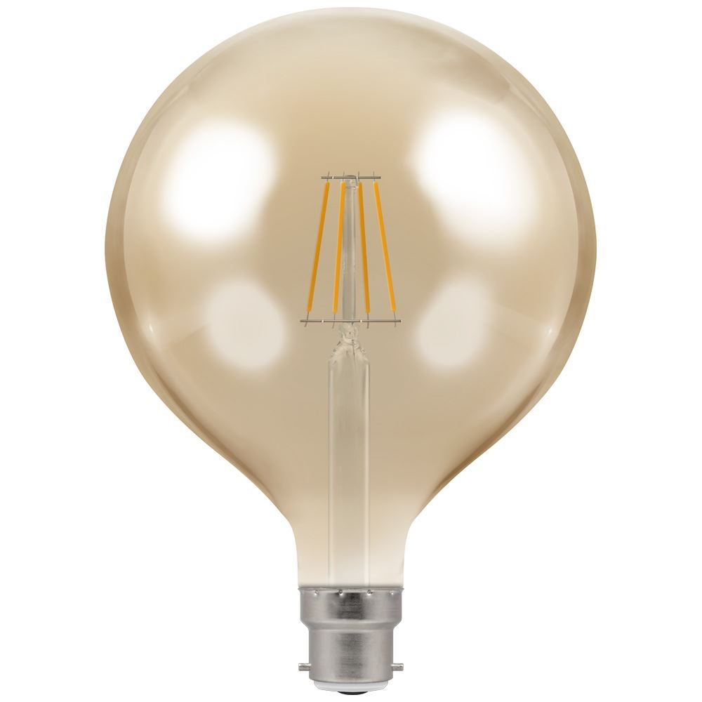 LED Globe G125 Filament Antique • Dimmable • 7.5W • 2200K • BC-B22d