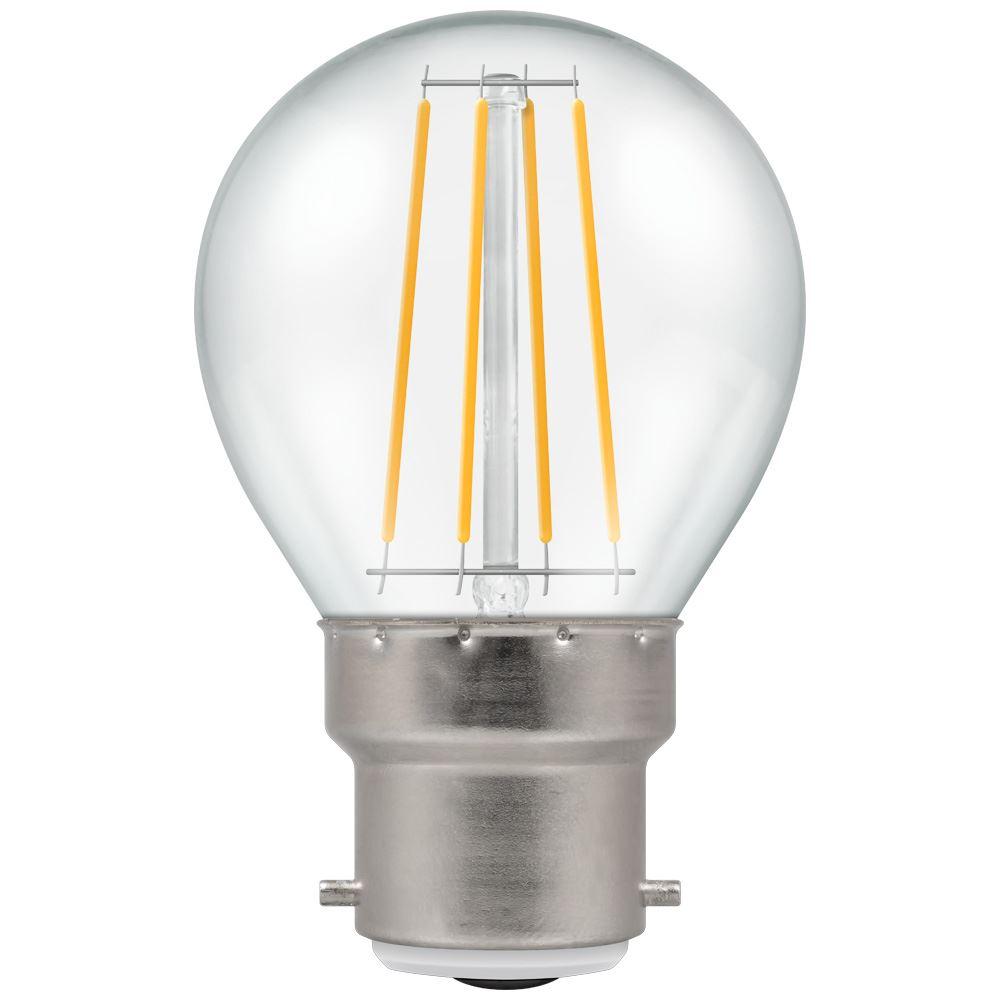 LED Round Filament Clear 4W 2700K BC-B22d