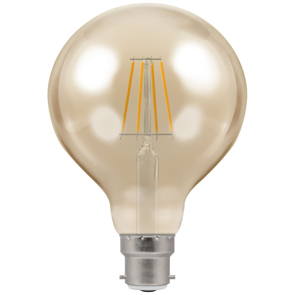 LED Globe G95 Filament Antique • Dimmable • 5W • 2200K • BC-B22d