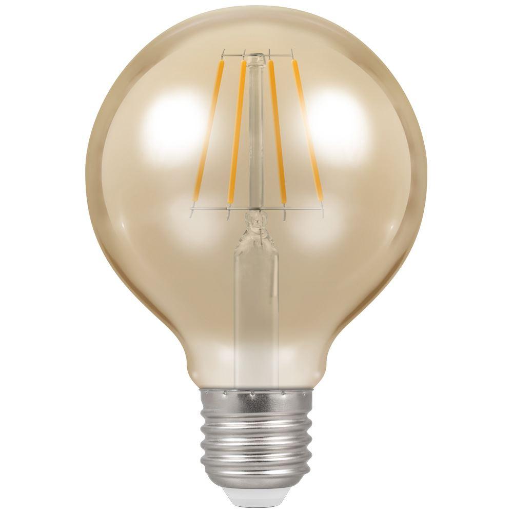 LED Globe G80 Filament Antique • Dimmable • 5W • 2200K • ES-E27