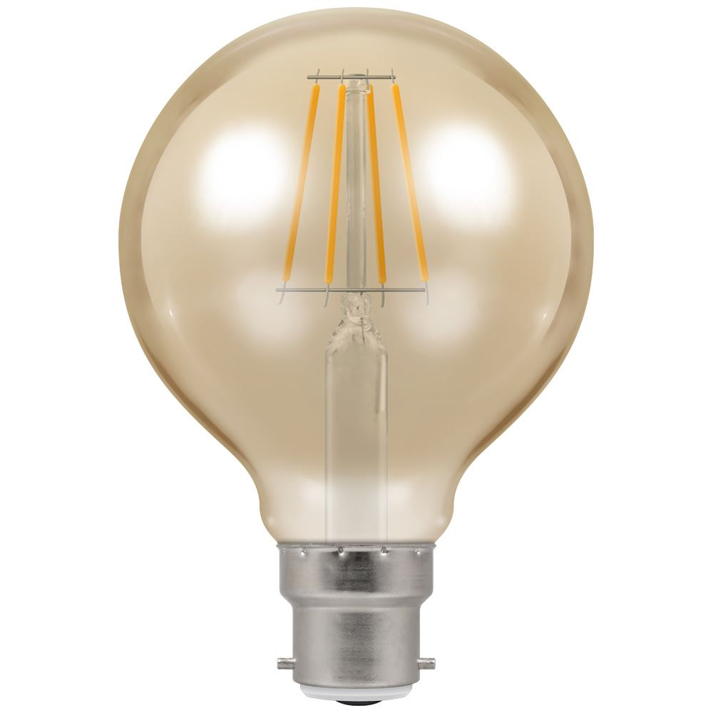 LED Globe G80 Filament Antique • Dimmable • 5W • 2200K • BC-B22d