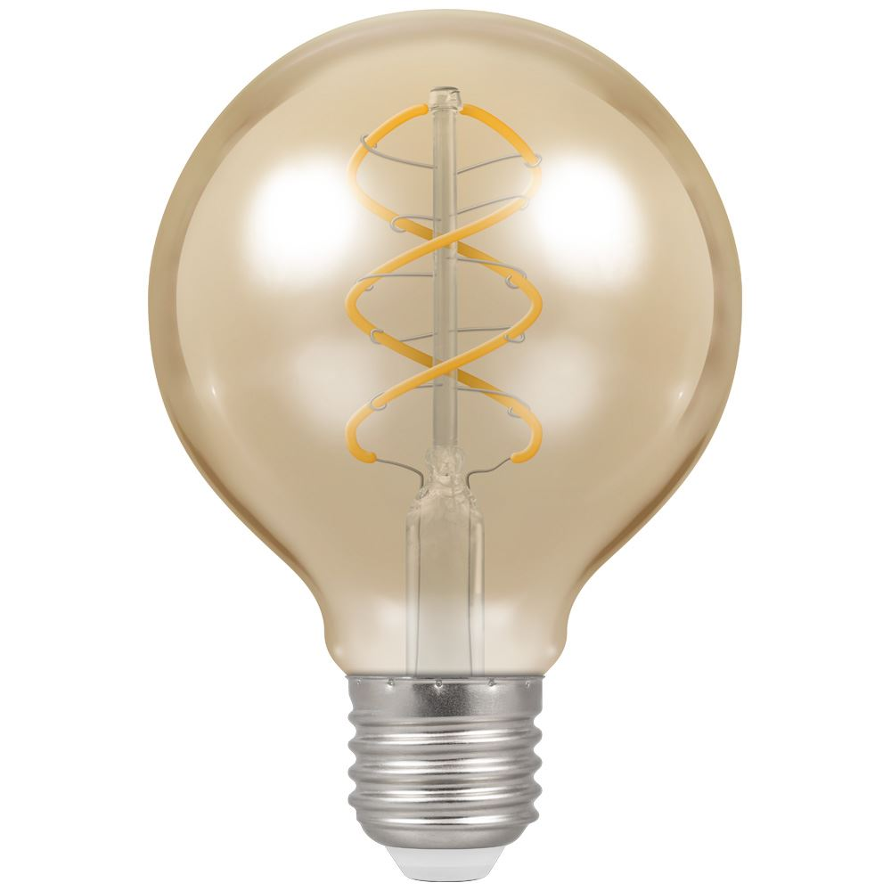 6621 Led G80 Spiral Filament Antique 6w Dimmable 2200k