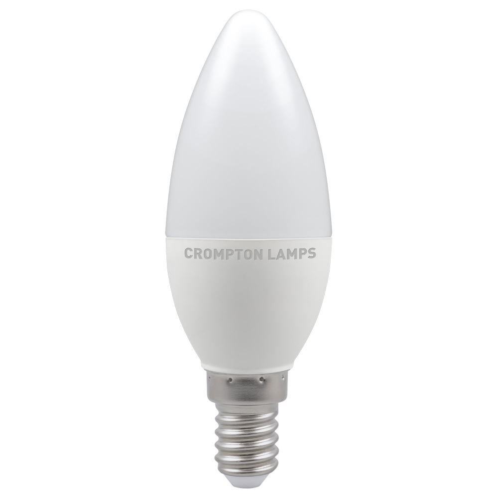 11489 - LED Candle Thermal Plastic 5.5W Dimmable 6500K SES-E14