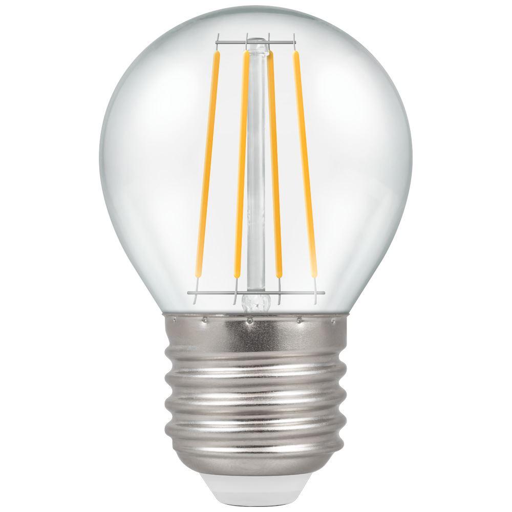 LED Round Filament Clear 4W 2700K ES-E27