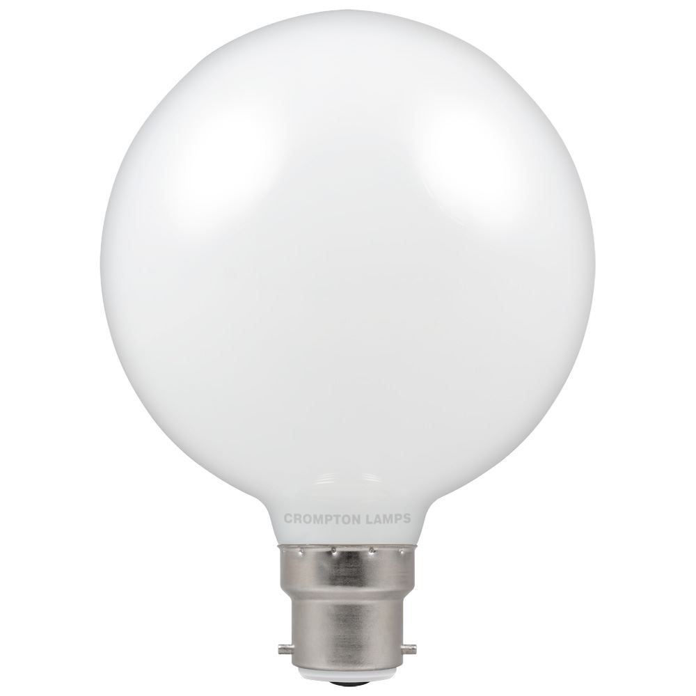 4595 - LED Globe G95 Opal 9W Dimmable 2700K BC-B22d