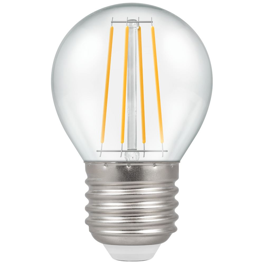 7239 - LED Round Filament Clear 5W Dimmable 2700K ES-E27