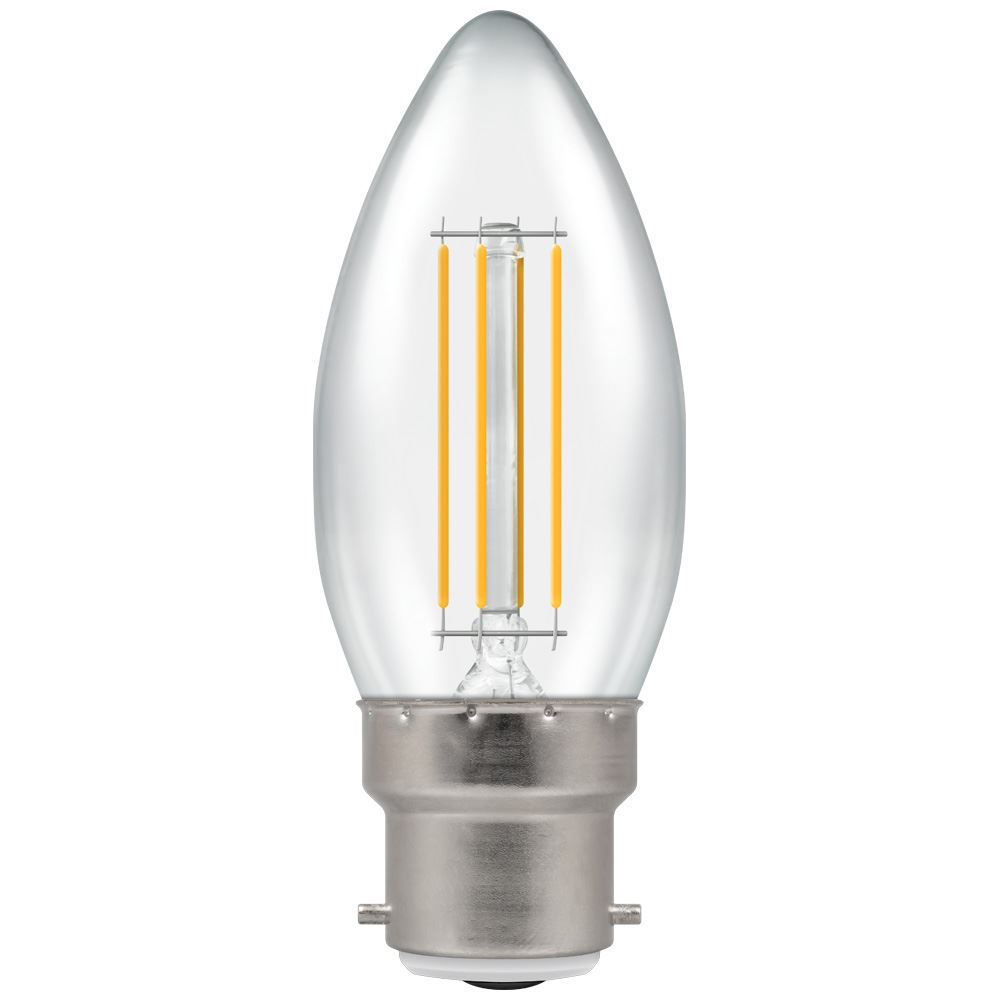 7130 - LED Candle Filament Clear 5W Dimmable 2700K BC-B22d