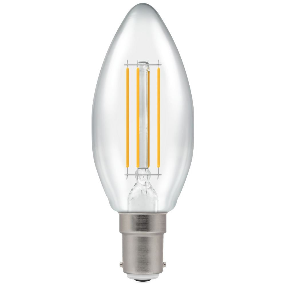 7147 - LED Candle Filament Clear 5W Dimmable 2700K SBC-B15d
