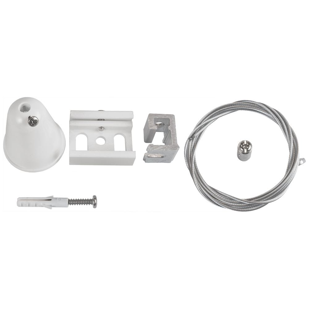 10819 - Wire Suspension Kit For 3 Circuit Track White