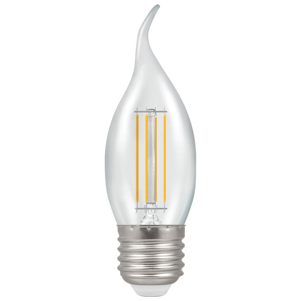 12158 - LED Bent Tip Candle Filament Clear 5W 2700K ES-E27