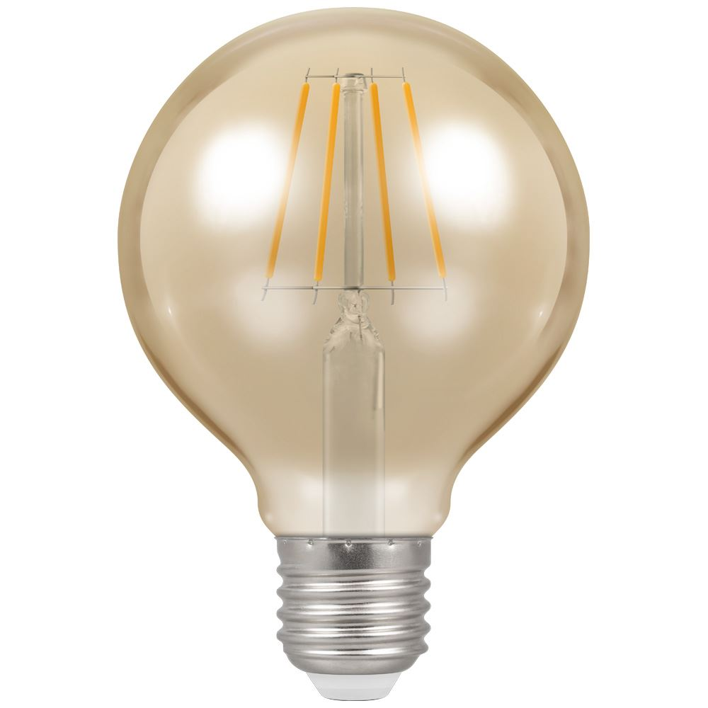4276 - LED Globe G80 Filament Antique 5W Dimmable 2200K ES-E27