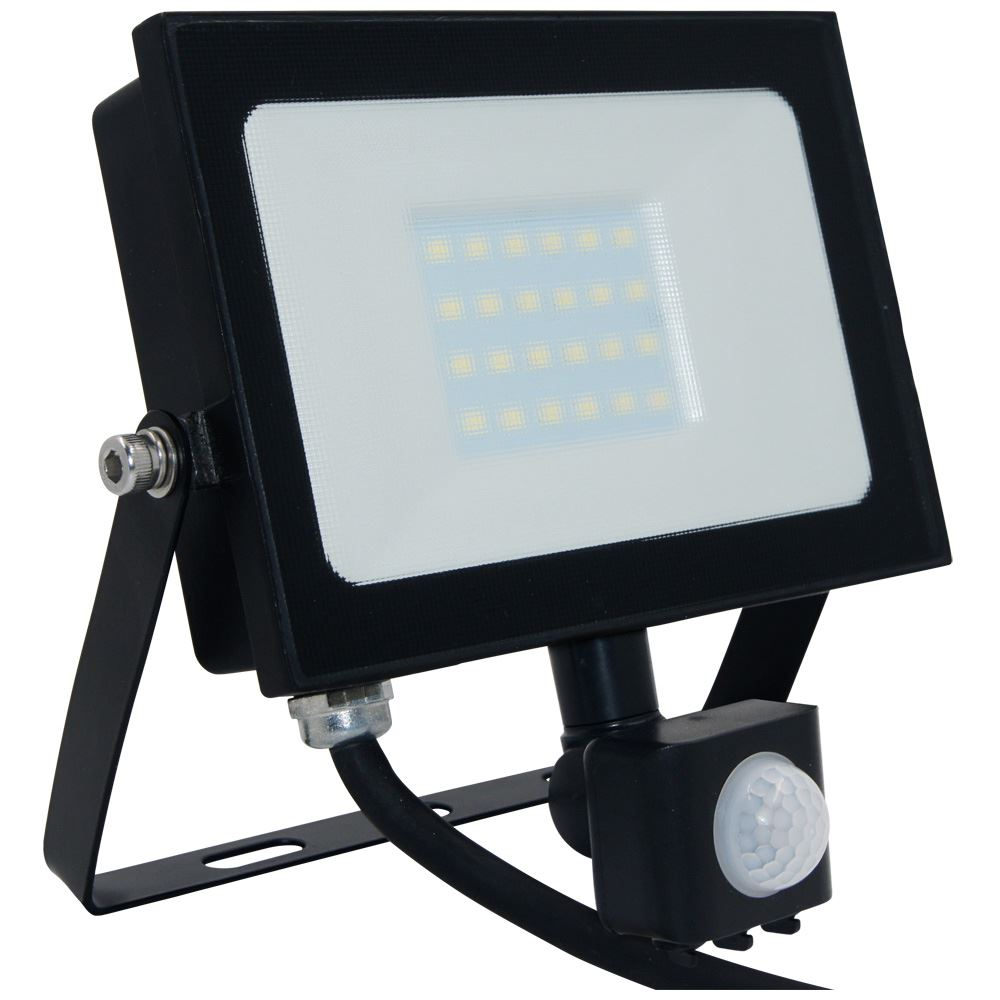 Atlas Mini 2 LED Floodlight/PIR IP65 Black 20w 1350lm-12608