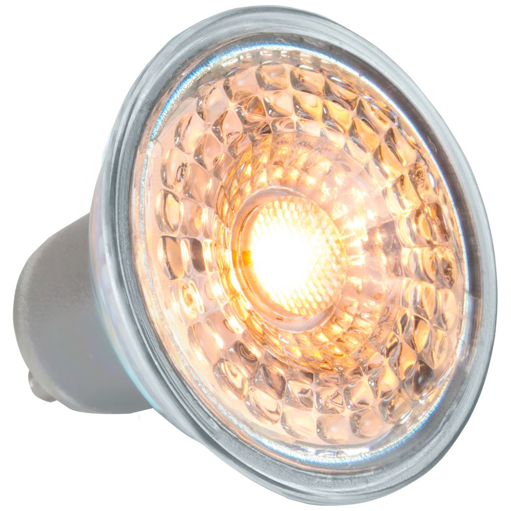 9738 - LED GU10 Glass SMD 5.5W Sunset Dim 3000K-2200K
