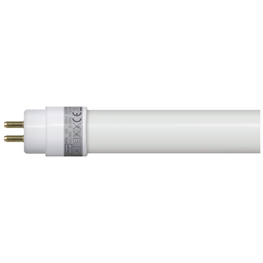 9776 - LED T5 Full Glass Tube 4ft / 1149mm 16W 3000K G5