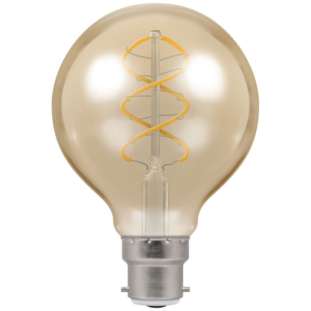 6614 - LED G80 Spiral Filament Antique 6W Dimmable 2200K BC