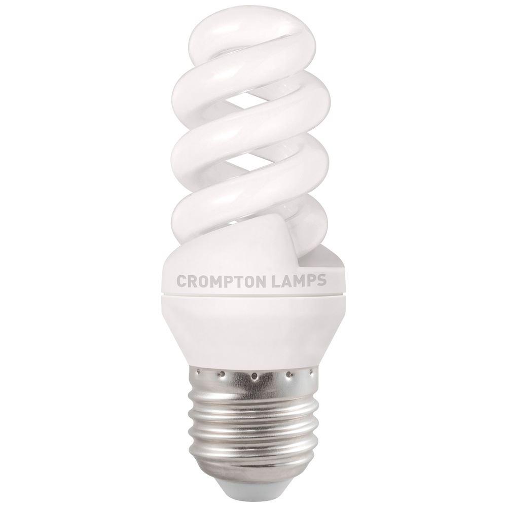 Bpcfmsp9wwes 1bl Cfl T3 Mini Spiral 9w 2700k Es E27 Crompton Lamps Ltd