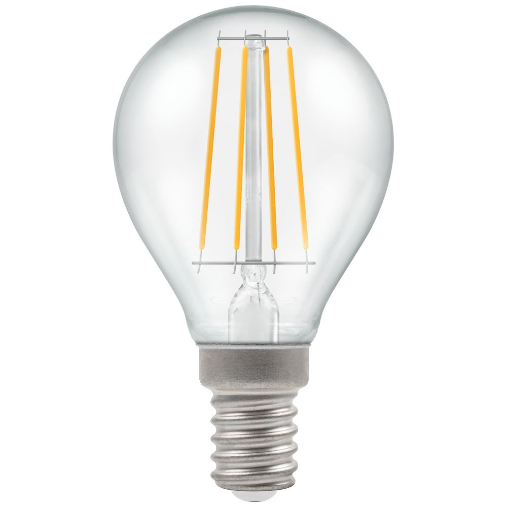 7246 - LED Round Filament Clear 5W Dimmable 2700K SES-E14