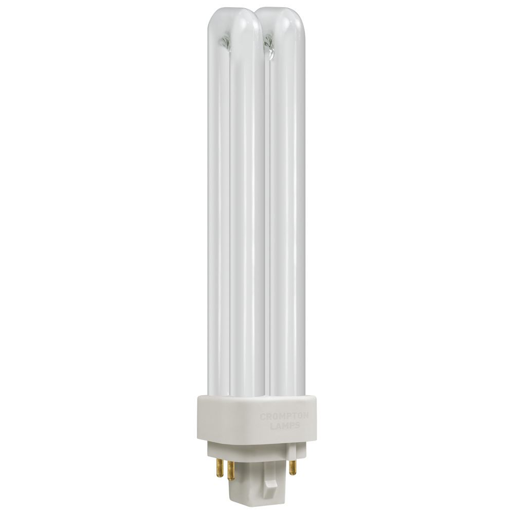Box of 10 CLDE18SWW Crompton 18w Double Turn PL-C 4 pin G24q-2 830 Warm White