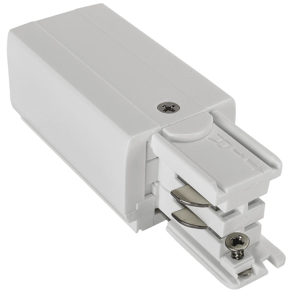 10697 - Right Live End Feed For 3 Circuit Track White
