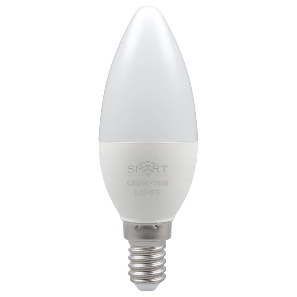 12370 - LED Smart Candle Thermal Plastic Dimmable 5W RGB+ 3000K SES-E14
