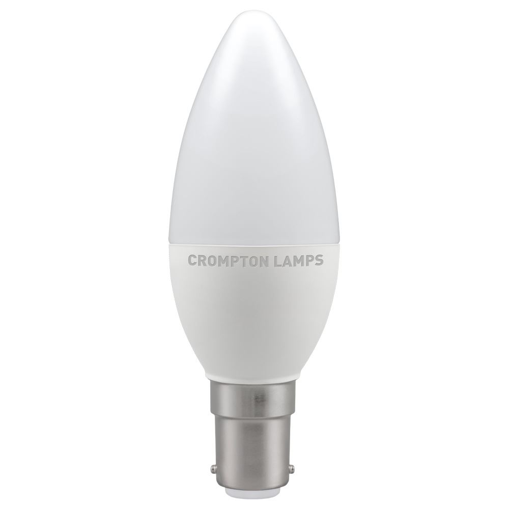 11304 - LED Candle Thermal Plastic 5.5W 2700K SBC-B15d