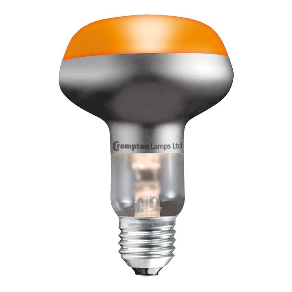 4 x R80 60w BC AMBER REFLECTOR DISCO LAMP