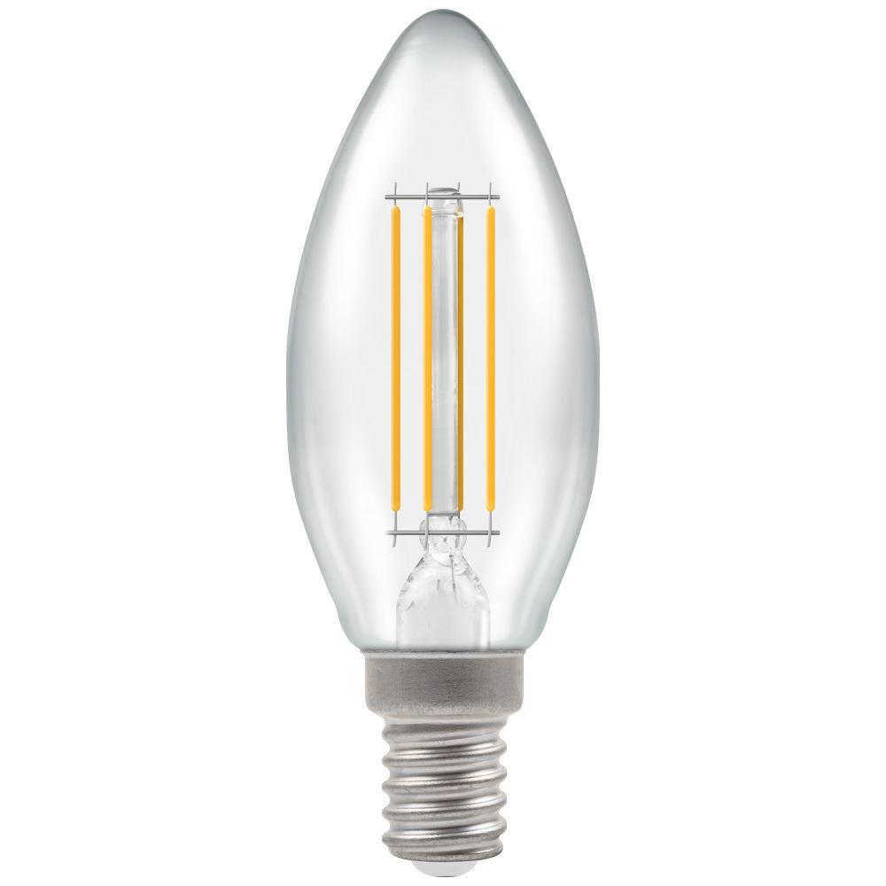 LED Candle Filament Clear 4W 2700K SES-E14
