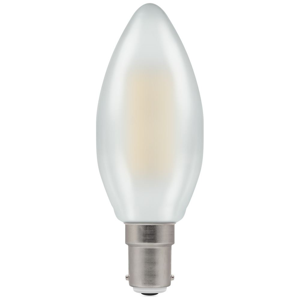 7185 - LED Candle Filament Pearl 5W Dimmable 2700K SBC-B15d