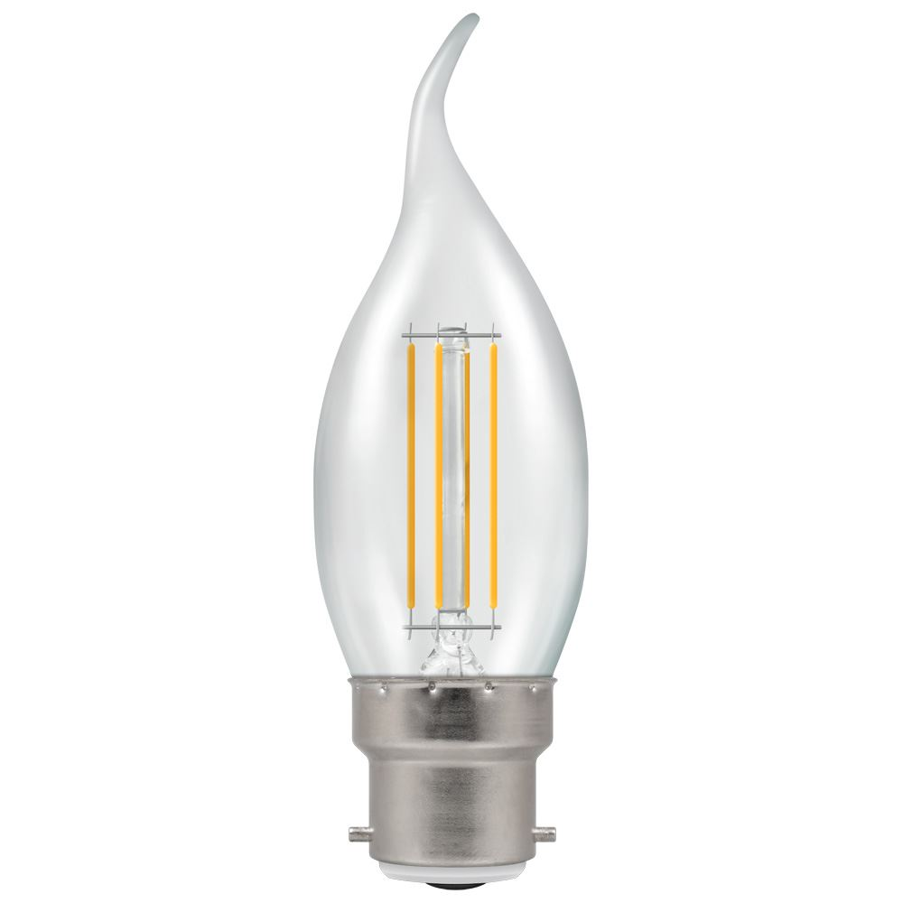 12134 - LED Bent Tip Candle Filament Clear 5W 2700K BC-B22d
