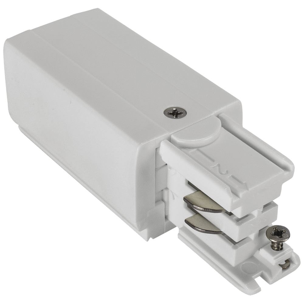 10680 - Left Live End Feed For 3 Circuit Track White