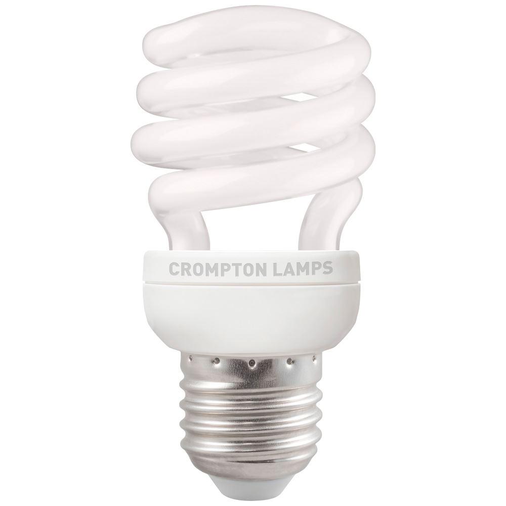 Bpcfmsp12wwes 1bl Cfl T2 Mini Spiral 12w 2700k Es E27 Crompton Lamps Ltd