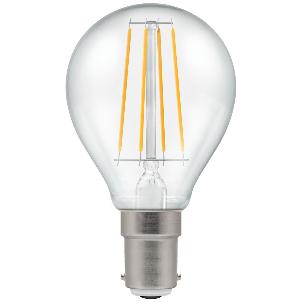LED Round Filament Clear 5W Dimmable 2700K SBC-B15d
