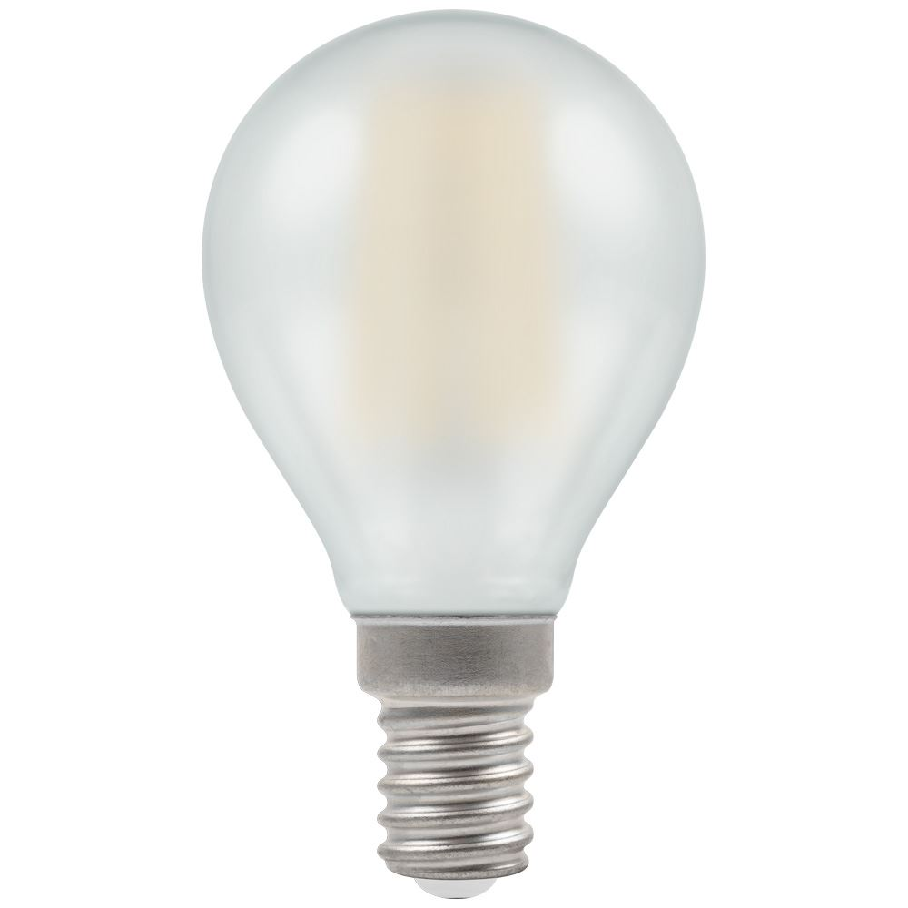 7284 - LED Round Filament Pearl 5W Dimmable 2700K SES-E14